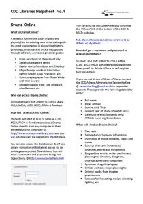 CDD Libraries Helpsheet 4